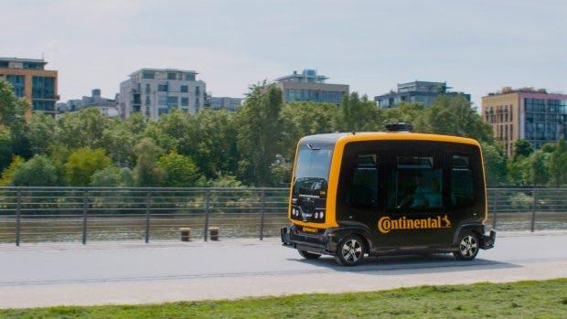 Kernstück des Lieferkonzepts ist Continentals autonomer Mini-Bus Cube. (Foto: Continental)