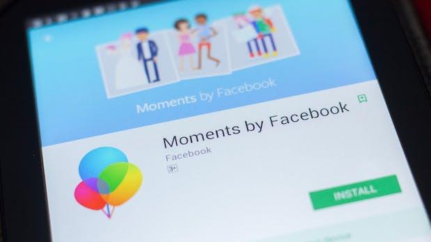 Facebook stellt seine Foto-App Moments ein