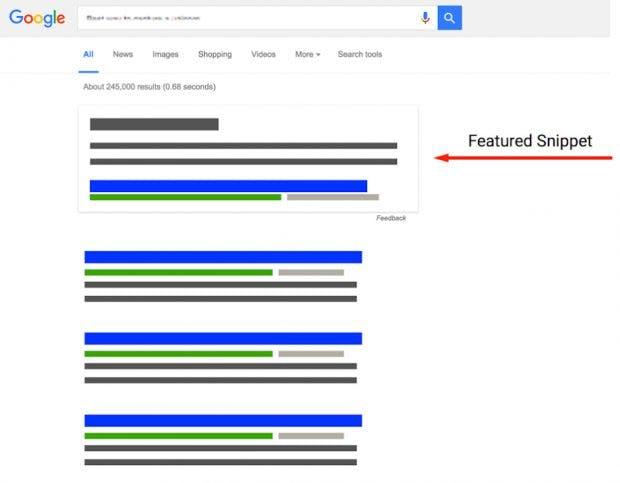 So sieht ein Featured Snippet in den Google-Suchergebnissen aus. (Grafik: Google)