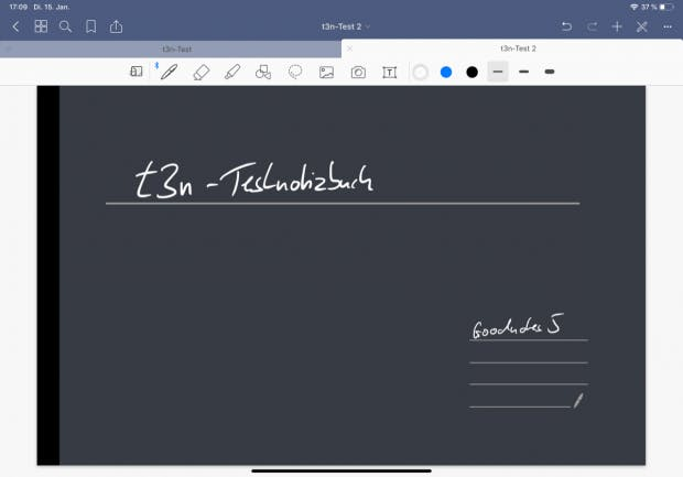 Ein paar Auffrischungen hat auch das Design von Goodnotes 5 bekommen. Außerdem gibt es neue Vorlagen für das Design der Notizbücher und Papiere. (Screenshot: Goodnotes / t3n.de)