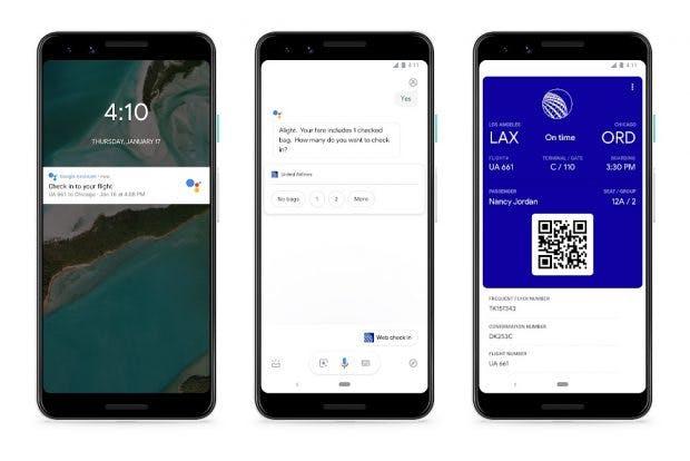 Der Google Assistant kann künftig für euch einchecken. (Bild: Google)