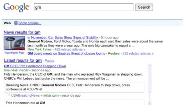Google Real-Time-Search