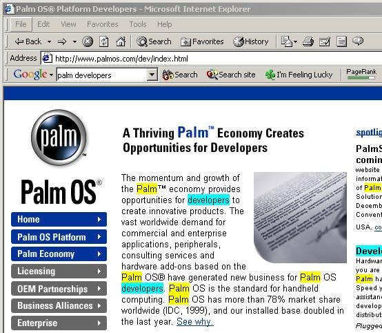 Google Toolbar 2000