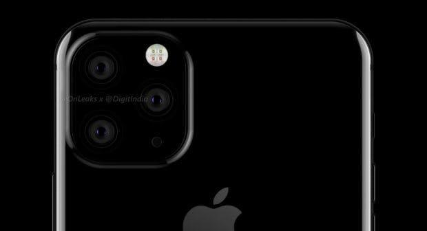 Das iPhone XI Max soll mit Triple-Kamera ausgestattet sein. (Renderbild: Onleaks)