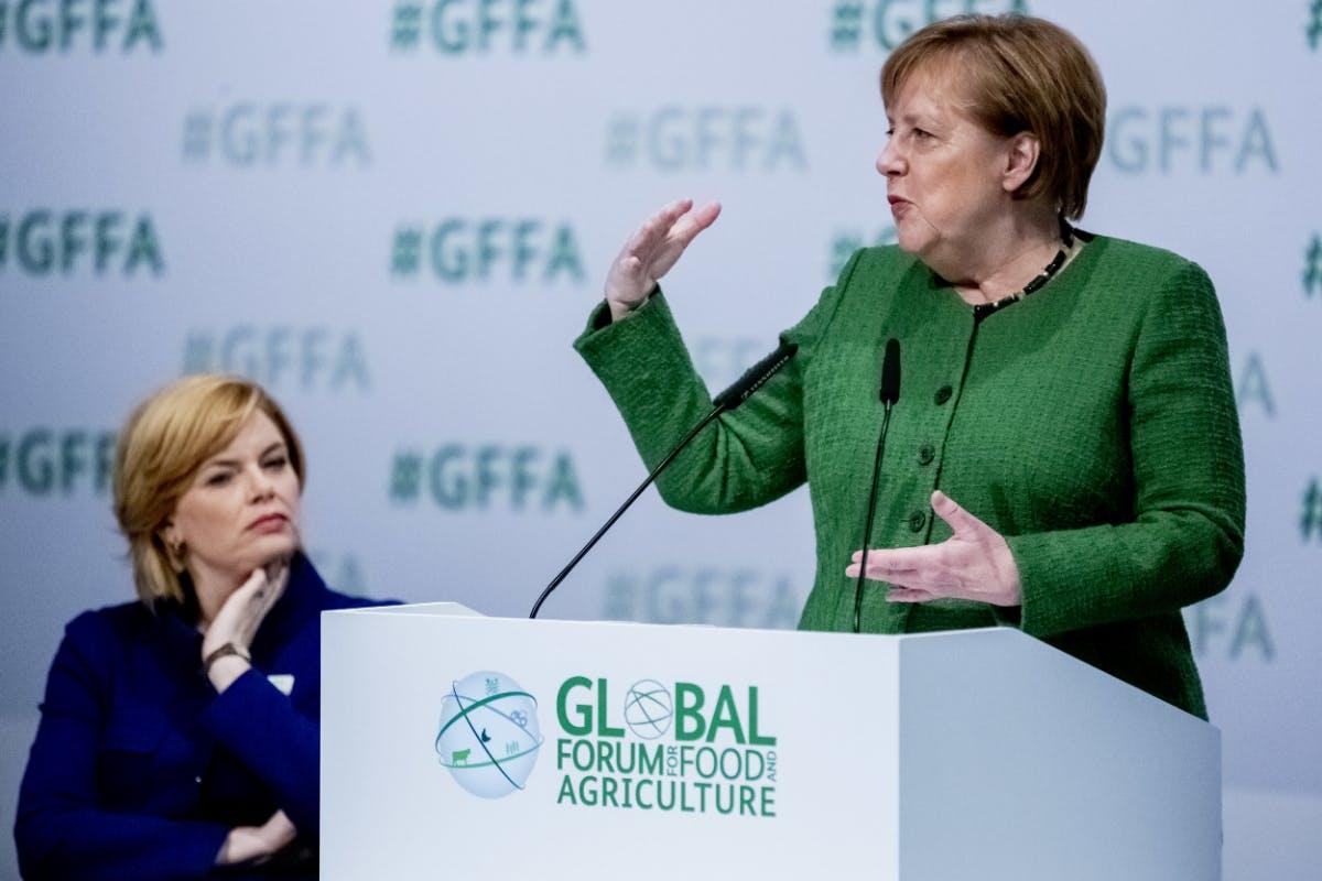 Angela Merkel: Digitalisierung kann im Kampf gegen Hunger helfen