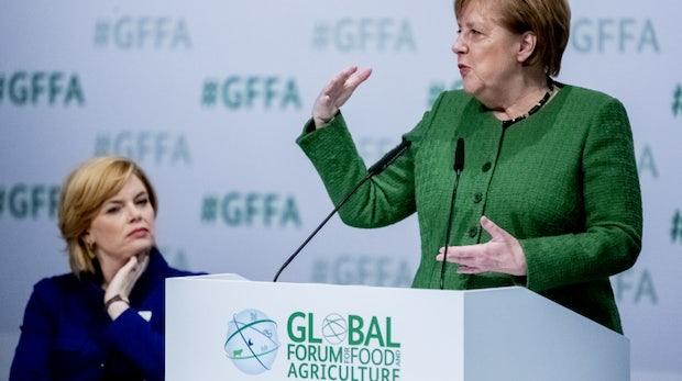 Merkel zufolge kann Digitalisierung im Kampf gegen Hunger helfen