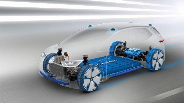Der Modulare Elektrifizierungsbaukasten (MEB) MEB ist eine flexible und modulare Plattform für Elektroautos, auf der sämtliche Antriebskomponenten wie Batterie, Elektromotor und die Elektronik untergebracht sind. (Bild: Volkswagen AG)
