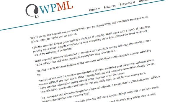 WPML: Ex-Mitarbeiter hackt Website des WordPress-Plugins
