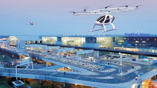 Frankfurter Flughafen und Volocopter entwickeln Konzept für den Flugtaxi-Einsatz