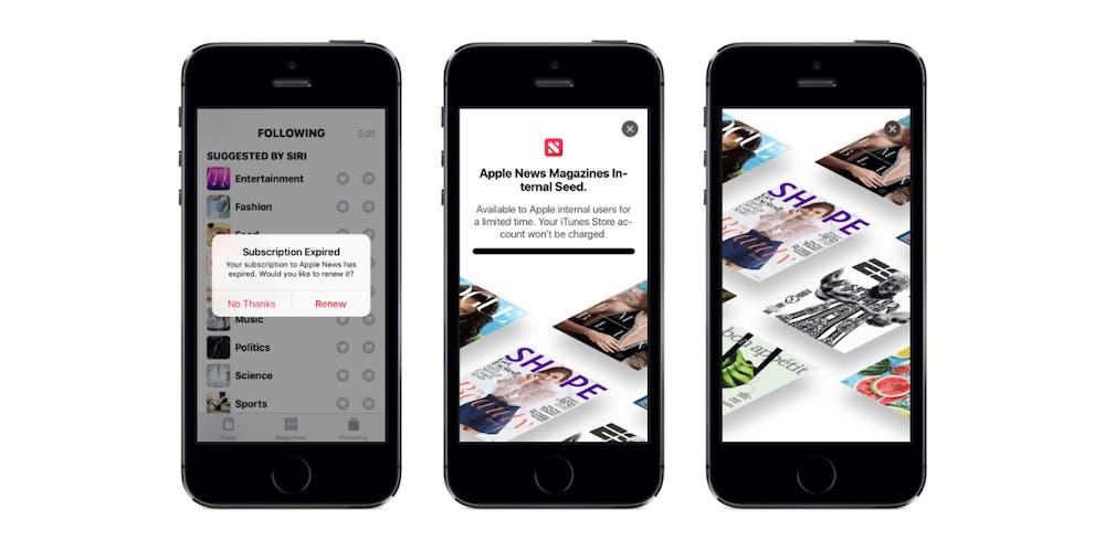 """Eine Vorschau von Apples """"Netflix für News"""" ist in einer Beta-Version von iOS 12.2 entdeckt worden. (Bild: 9to5Mac)"""