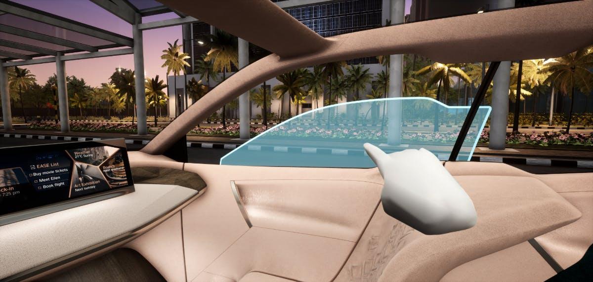 BMW Natural Interaction: Fenster mit einem Fingerzeig und Sprachbefehl schließen, ist bald möglich. (Foto: BMW)
