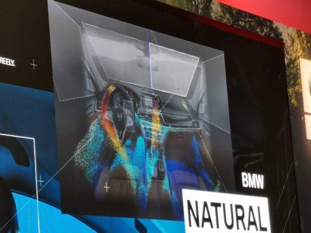 BMW Natural Interaction: So sehen die Sensoren den Fahrzeug-Innenraum. (Foto: t3n)