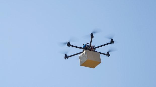 Microsoft hat Drohnen-Lieferung an fahrende Autos patentiert