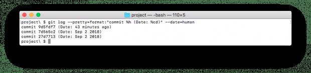 Der Commit-Log kann jetzt mit einem besser lesbaren Datum angezeigt werden. (Screenshot: t3n.de)