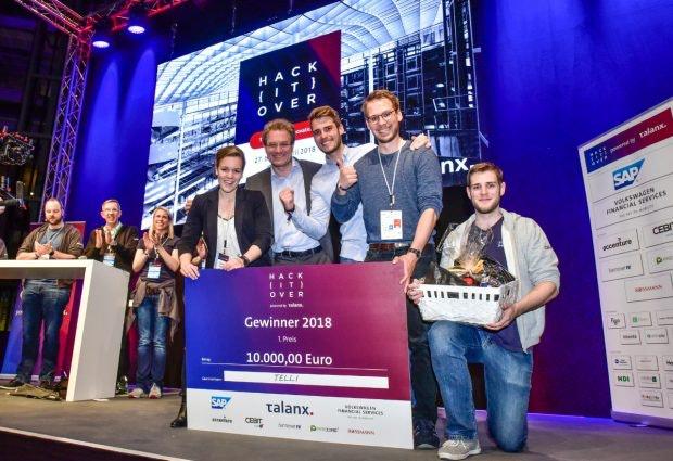 Der erste Platz des Hackitover 2018 gewann 10.000 Euro. Doch es gibt weit mehr Anreize für eine Hackathon-Teilnahme, als nur das Preisgeld. (Foto: Talanx AG)