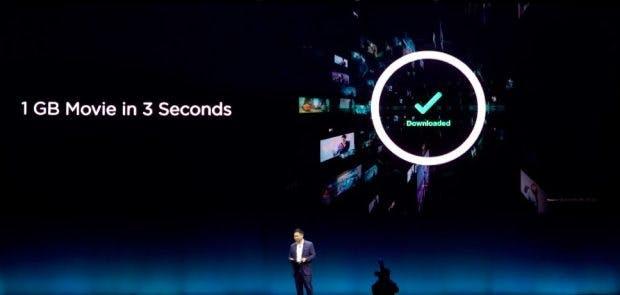 Das Huawei Mate X kommt mit 5G-Modem. (Screenshot: t3n)