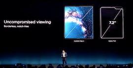 Ausgeklappt bietet das Huawei Mate X eine Displaydiagonale von acht Zoll. (Screenshot: t3n)