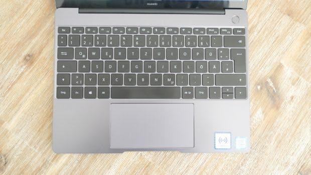 Keyboard und Touchpad des Huawei Matebook 13. (Foto: t3n)