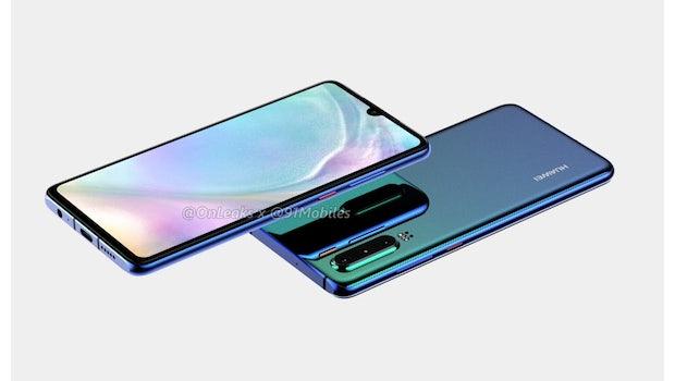 So soll das Huawei P30 aussehen. (Bild: Onleaks)