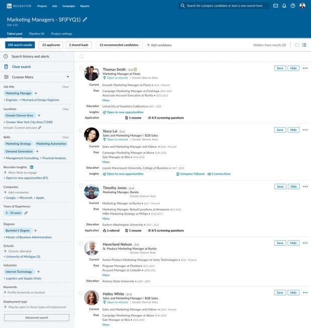 Linkedin will das Recruiting über die Plattform vereinfachen. (Screenshot: Linkedin)