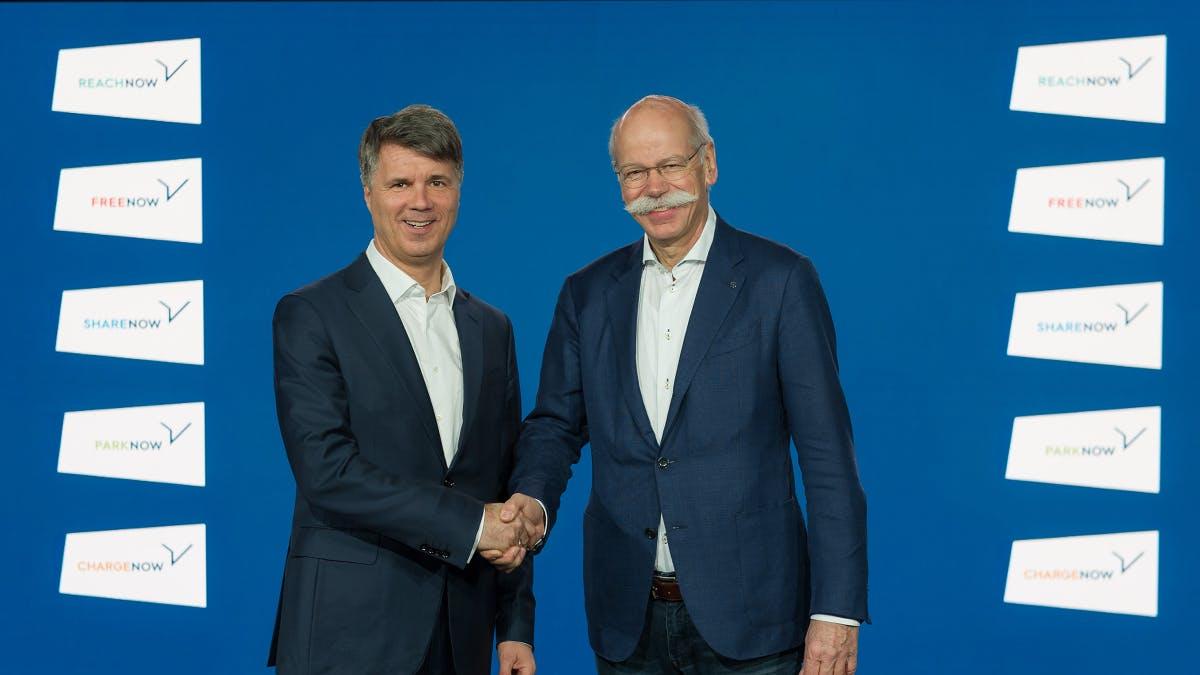 BMW und Daimler legen Mobilitätsdienste zusammen