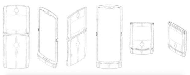 Motorola Foldable Patentskizze. (Bild: via engadget)