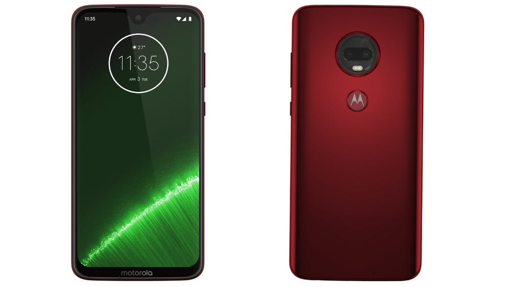 Das Moto G7 kommt unter anderem in rot. (Bild: Motorola)