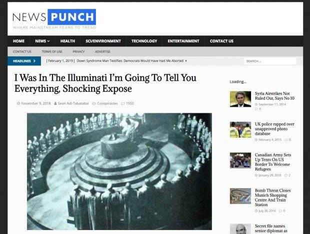 Dieselben Inhalte unter neuem Namen: Aus Yournewswire wurde News Punch. (Screenshot: newspunch.com)