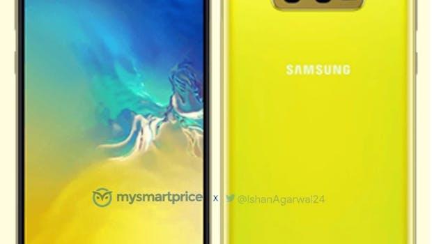 Das Samsung Galaxy S10e wird es auch in Knalligem Geld geben. (Bild: Mysmartprice)