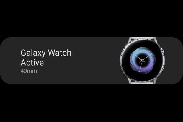 Samsung Galaxy Watch Active in der Samsung-Wearable-App. (Bild: t3n.de)