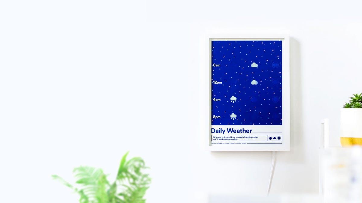 Aktueller Wetterbericht als Poster: Smarte Tinte macht es möglich