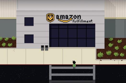 Newsgame zeigt den Arbeitsalltag der Amazon-Lagerarbeiter