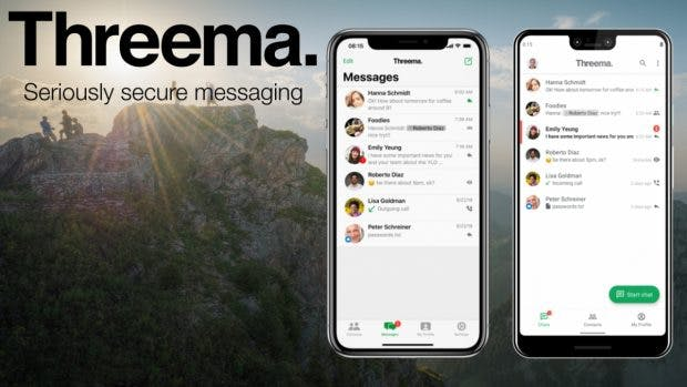 Threema Messenger. (Bild: Threema (bearbeitet))