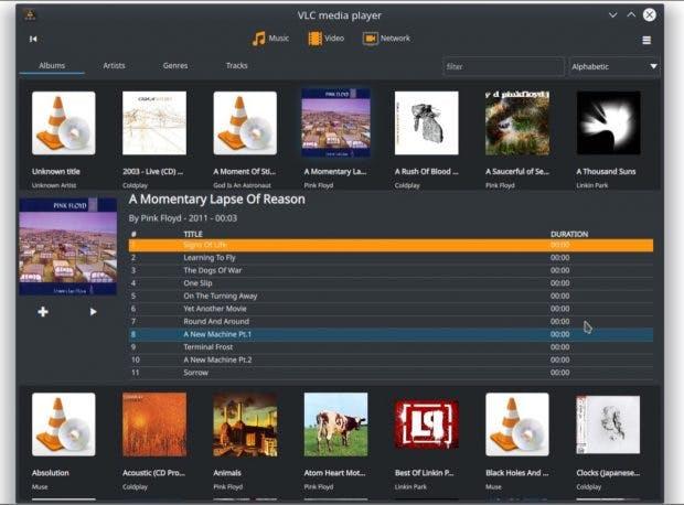 Die Medienbibliothek kommt mit Version 4 des VLC Media Players auf den Desktop, hier unter Linux. (Bild: Videolan)