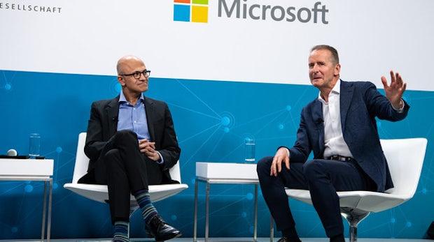 Microsoft und Volkswagen bauen Zusammenarbeit bei Cloud-Diensten aus