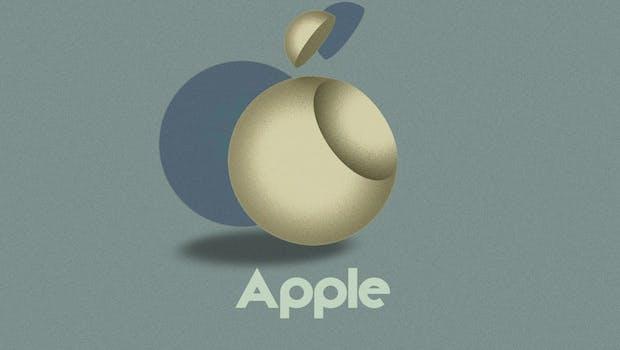 Das Apple-Logo im Bauhaus-Stil. (Grafik: 99Designs/Vladimir Nikolic)