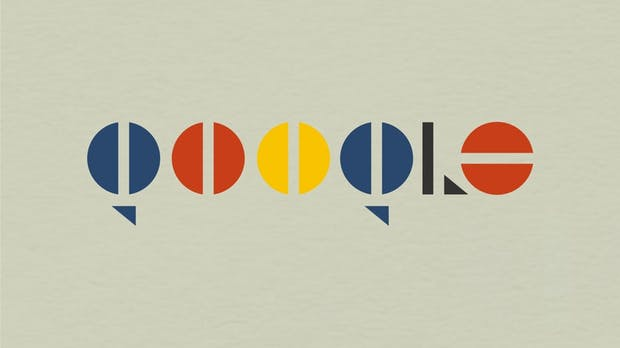 Logos im Bauhaus-Stil: Designstudie für Apple, Netflix und andere