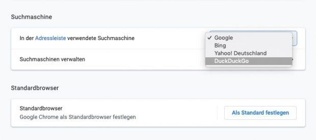 Duckduckgo in Chrome