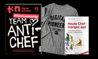 """Dein t3n Abo inklusive Hanser-Fachbuch """"Heute Chef –morgen agil"""""""