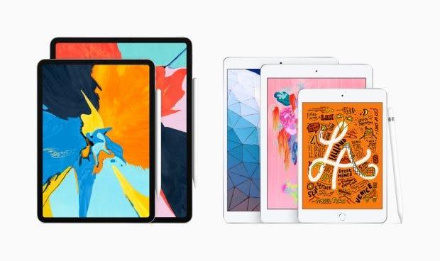 Die 2019 iPad-Familie besteht nun aus den iPad Pros, iPad Air, iPad mini und dem iPad. (Bild: Apple)
