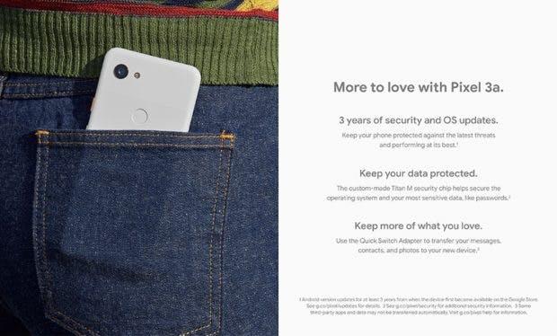 Das Pixel 3a erhält offenbar mindestens drei Jahre Android-Updates. (Bild: Droid-Life)