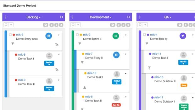 Bei dem einfachen Projekt steht euch ein anpassbares Kanban-Board zur Verfügung. (Grafik: Codegiant.io)