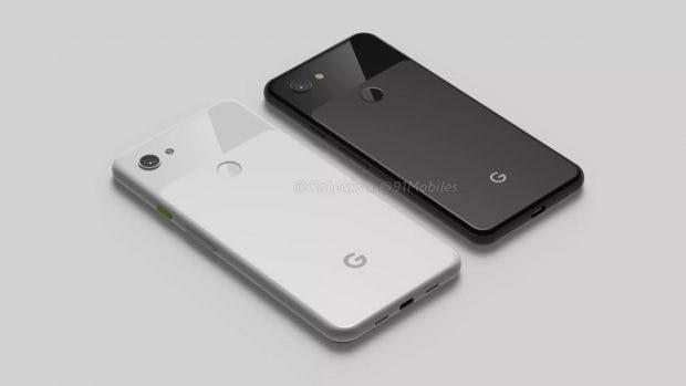So sollen das Google Pixel 3a und 3a XL aussehen. (Renderbild: 91 Mobiles)