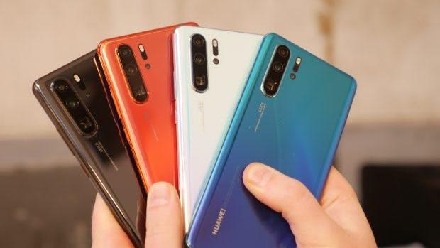 Einige Farben des Huawei P30 Pro – das weiße Modell kommt nicht nach Deutschland. (Foto: t3n)