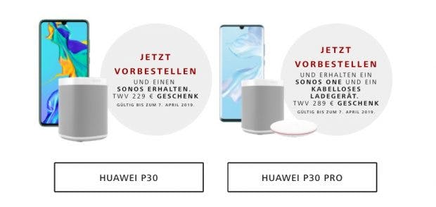 Screenshot der Huawei-P30-Promoseite. (Screenshot: t3n)
