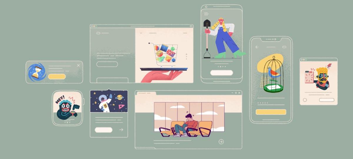 Fast 500 kostenlose Illustrationen für dein nächstes Projekt