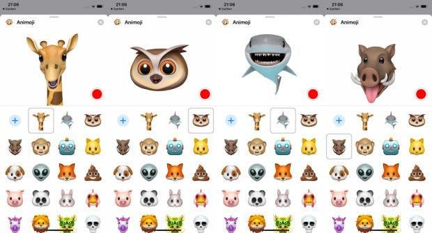 iOS 12.2 bringt auf iPhones und iPads mit Face-ID vier neue Animoji.(Screenshot: t3n)