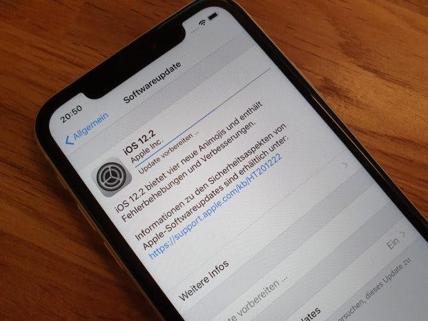 iOS 12.2 kann ab sofort installiert werden. (Foto: t3n)