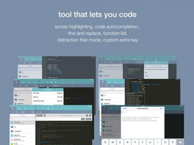 Koder ist ein kostenloser Code-Editor für iOS. (Grafik: RemuzLab)