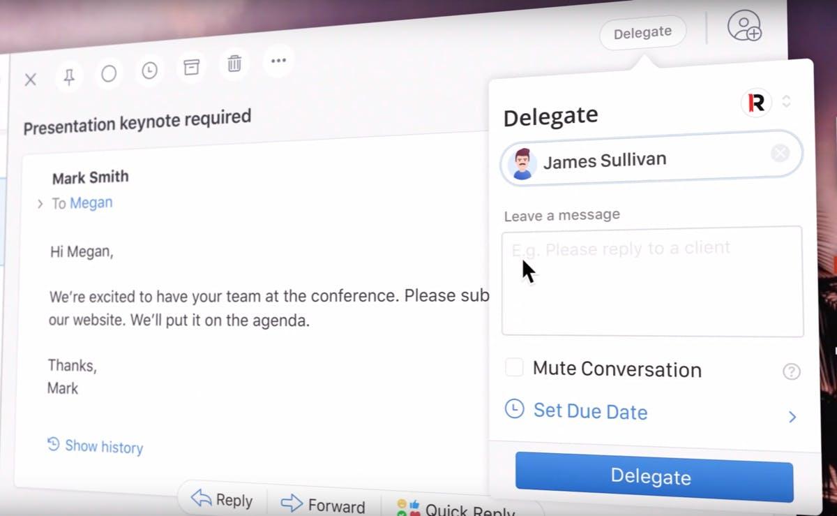 Mit Spark kannst du Mails jetzt an deine Kollegen delegieren
